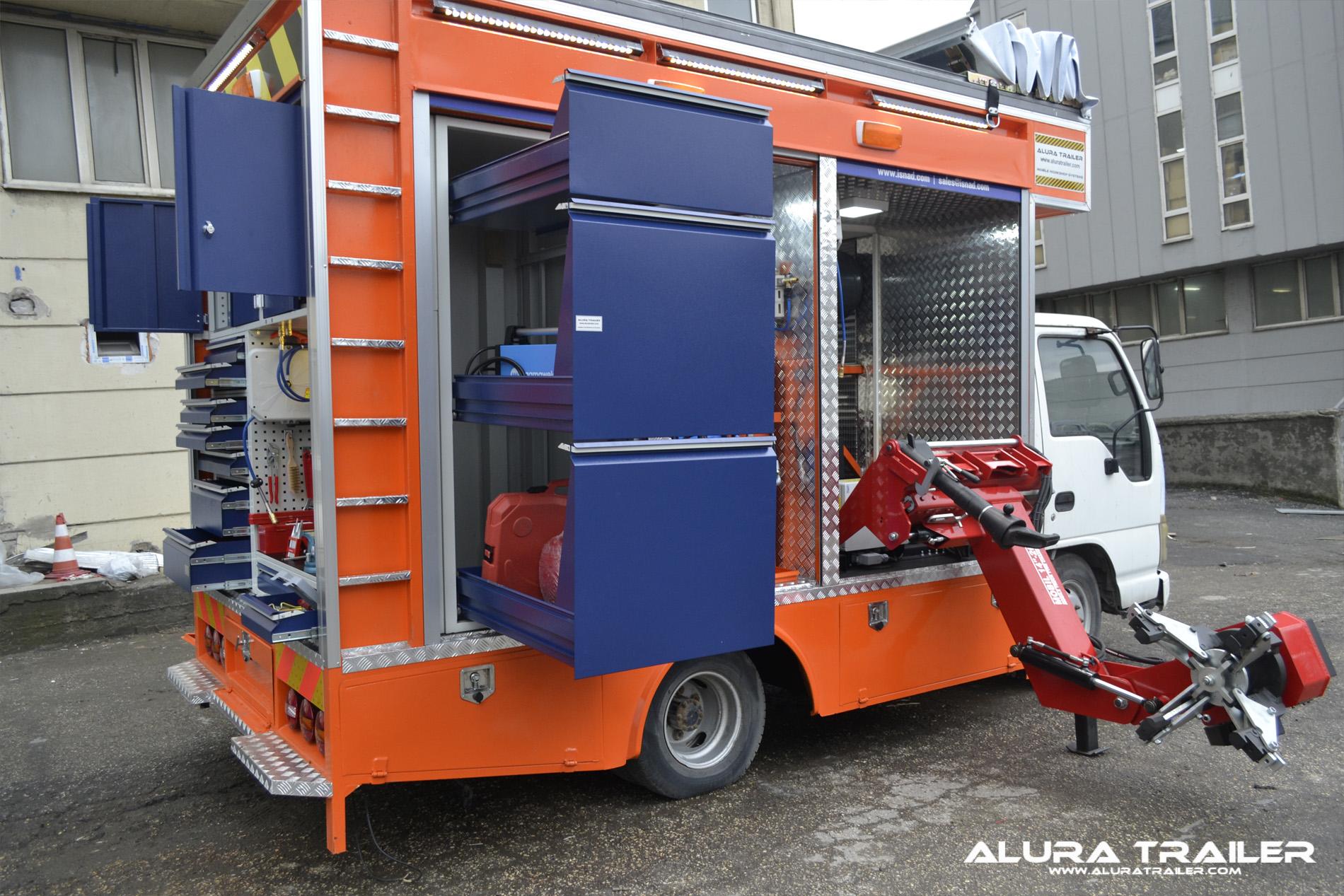 Alura trailer turkey mobile vehicles for Rv workshop