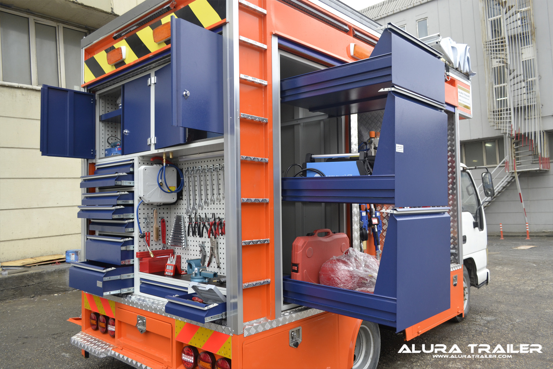 Alura trailer turkey mobile service truck for Rv workshop