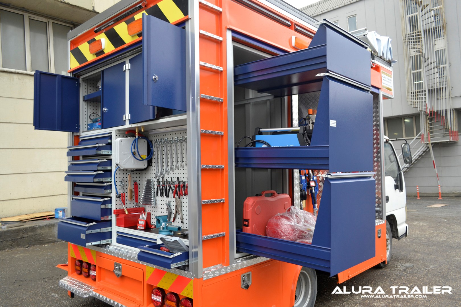 Alura trailer turkey mobile vehicles for Rv workshop