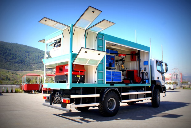 Alura trailer turkey mobile workshop container truck for Rv workshop